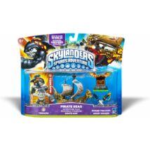 Skylanders Spyro's Adventures / Adventure Pack / Pirate Seas Adventure Pack (Terrafin figura, Hidden Treasure, Ghost Swords, Pirate Ship) ˘használt