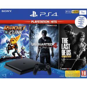 PlayStation 4 SLIM 1TB Konzol HITS játékokkal (PS4)