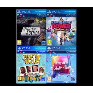 PlayLink játékgyűjtemény Hidden Agenda, Knowledge is Power,SingStar, That´s You (PS4)