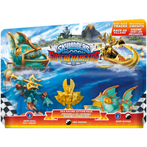 Skylanders Superchargers / Sea Racing Action Pack / Deep Dive Gill Grunt, Sea Trophy, Reef Ripper