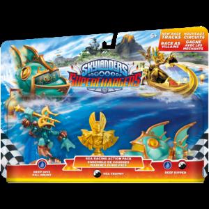 Skylanders Superchargers / Sea Racing Action Pack / Deep Dive Gill Grunt, Sea Trophy, Reef Ripper