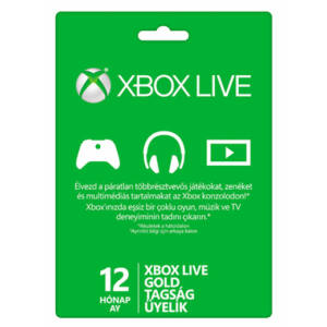 Xbox Live Gold kártya (1 éves)