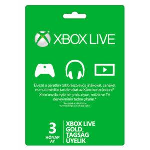 Xbox Live Gold kártya (3 hónapos)
